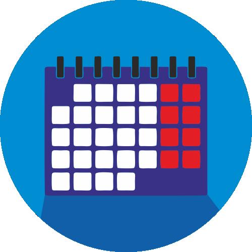 Квартальный календарь, постер ламинированный, 3 рекламных блока