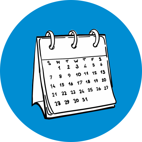 Настольный календарь-домик с перекидными листами